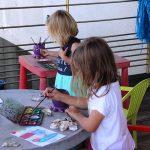 Atelier de peinture sur coquilles d'huîtres pour les enfants