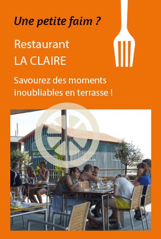 affiche restaurant La Claire